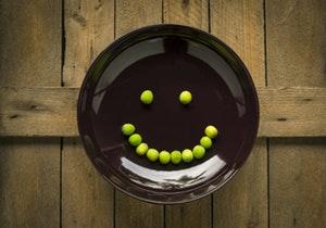 צלחת עם חיוך